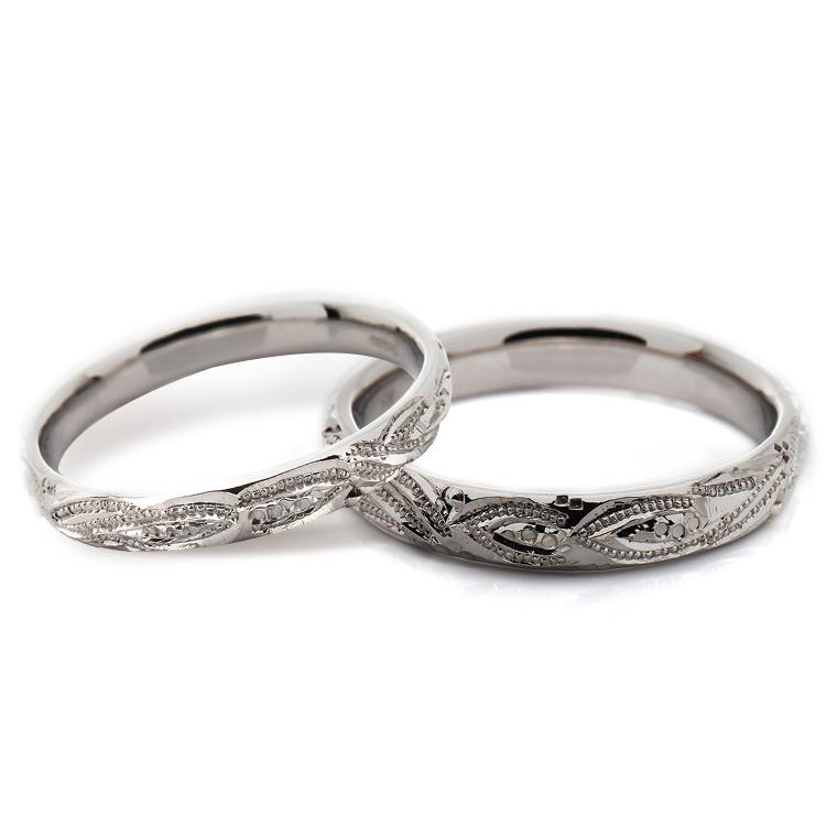 【マリッジリング(結婚指輪):ハワイアン】【甲丸タイプ:マーリエ-レディース-】プラチナ900リングISIHW-D ※4週間前後でお届け