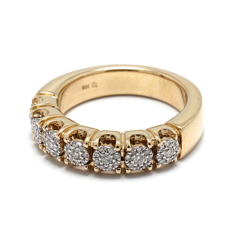 ダイヤモンド 10K イエローゴールドリング 0.40ct SIZE: 22号 RM0035