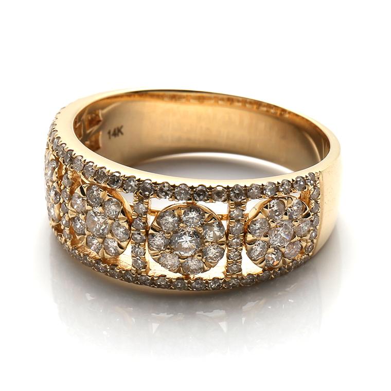 ダイヤモンド 14K イエローゴールドリング 1.15ct SIZE: 22号 SJ18 0625835-ALY