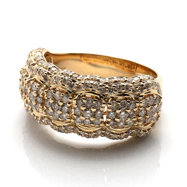 ダイヤモンド 14K イエローゴールドリング 2.00ct SIZE: 22号 SJ18 0625840-ALY