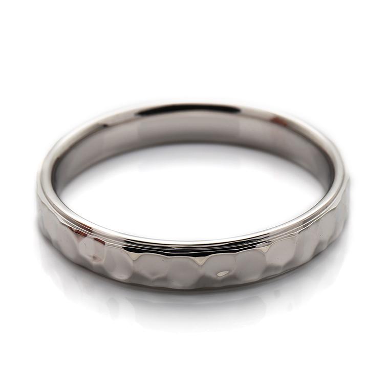 【マリッジリング(結婚指輪):メンズ】プラチナリング※槌目加工 KSIMA-007M ※4週間前後でお届け