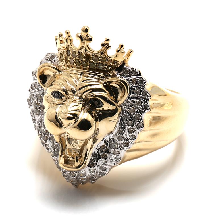 ダイヤモンド 10K イエローゴールドリング0.28ct SIZE: 21号 IOJ R6252 SJ19