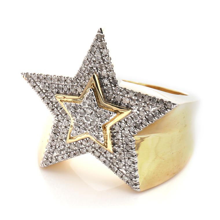 ダイヤモンド 10K イエローゴールドリング0.45ct SIZE: 22号 SR02871