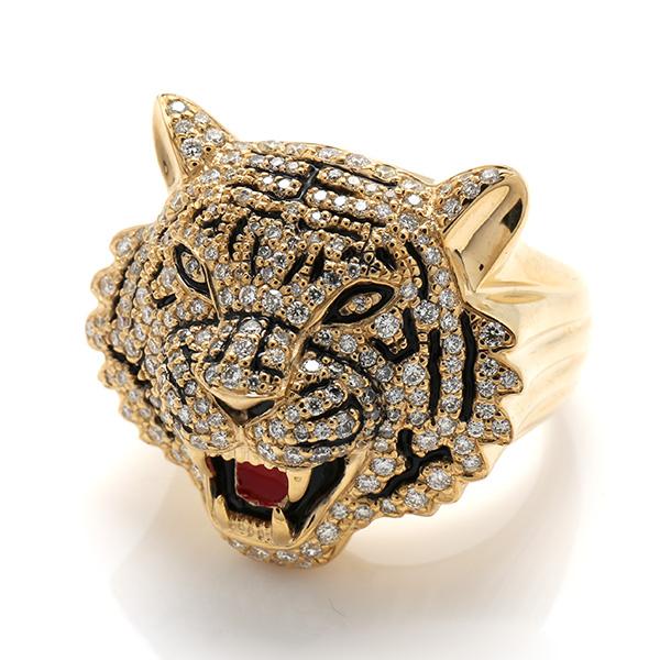 ダイヤモンド 10K イエローゴールドリング1.11ct SIZE: 22号 RM0189 SJ19