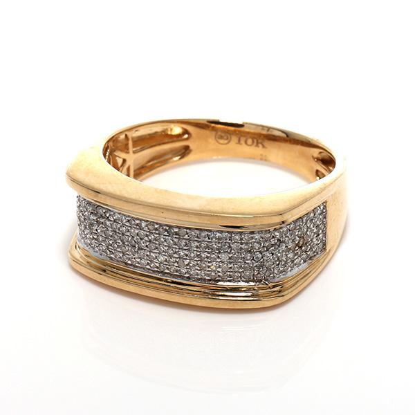 ダイヤモンド 10K イエローゴールドリング0.35ct SIZE: 21号 SC6619Y
