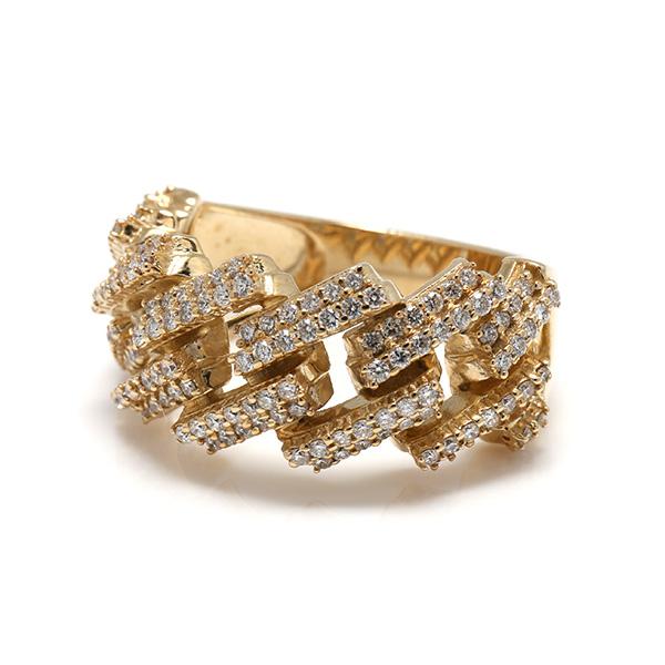 ダイヤモンド 10K イエローゴールドリング1.10ct SIZE: 21号 GEOC5218GQ SJ19