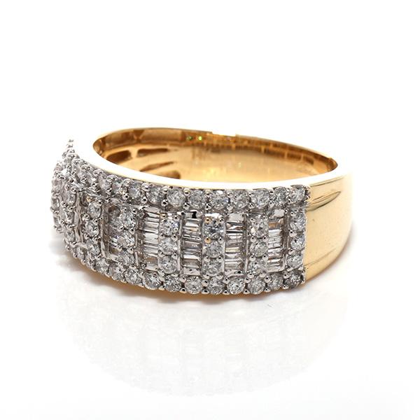 ダイヤモンド 10K イエローゴールドリング1.05ct SIZE: 21号 116824
