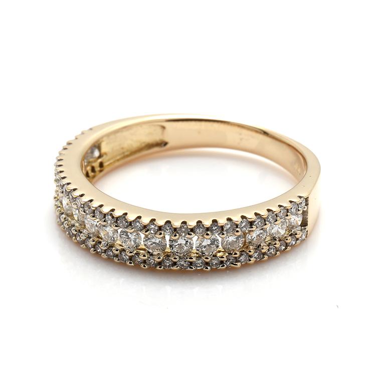 ダイヤモンド 10K イエローゴールドリング0.50ct SIZE: 7号・8号・9号・10号・12号・13号・14号 I05713R-10Y