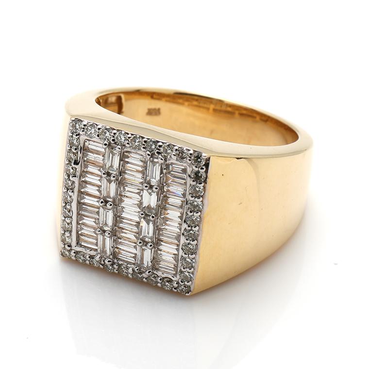 ダイヤモンド 10K イエローゴールドリング1.20ct SIZE: 22号 RM0212
