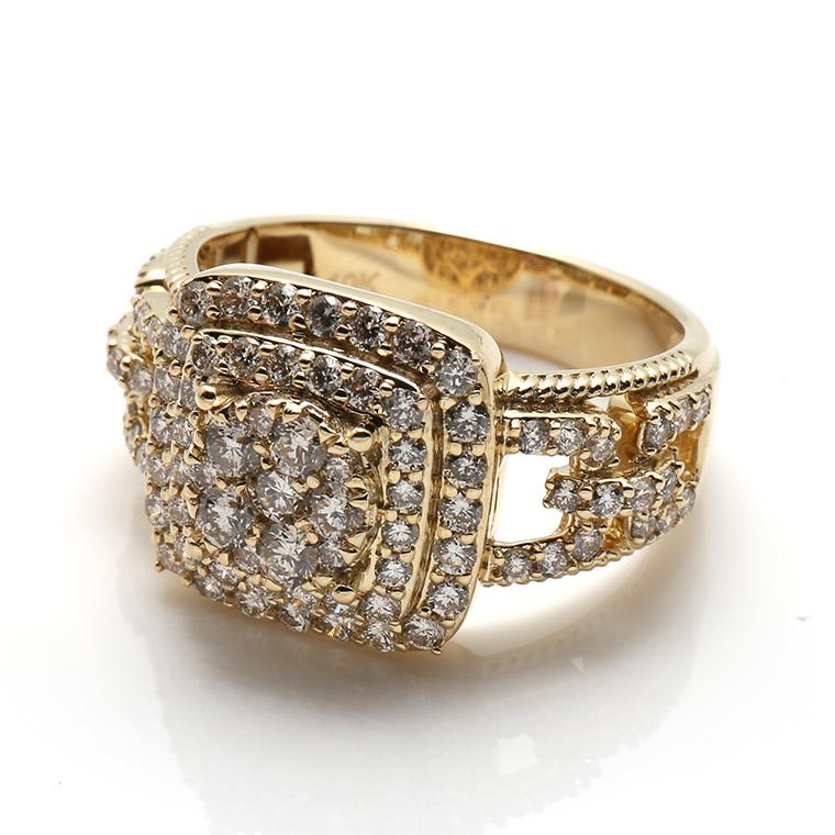 ダイヤモンド 10K イエローゴールドリング1.71ct SIZE: 22号 XR7790
