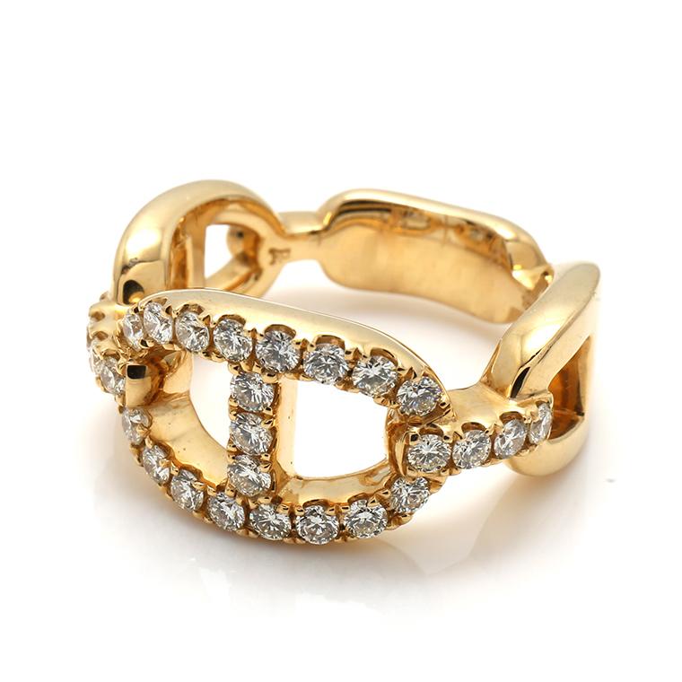ダイヤモンド 10K イエローゴールドリング1.11ct SIZE: 22号 RM0193