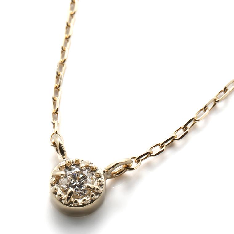 ダイヤモンド 10K イエローゴールドペンダントヘッド&ネックレス(40cm)0.033ct NPF-5 SJ19 XJ19