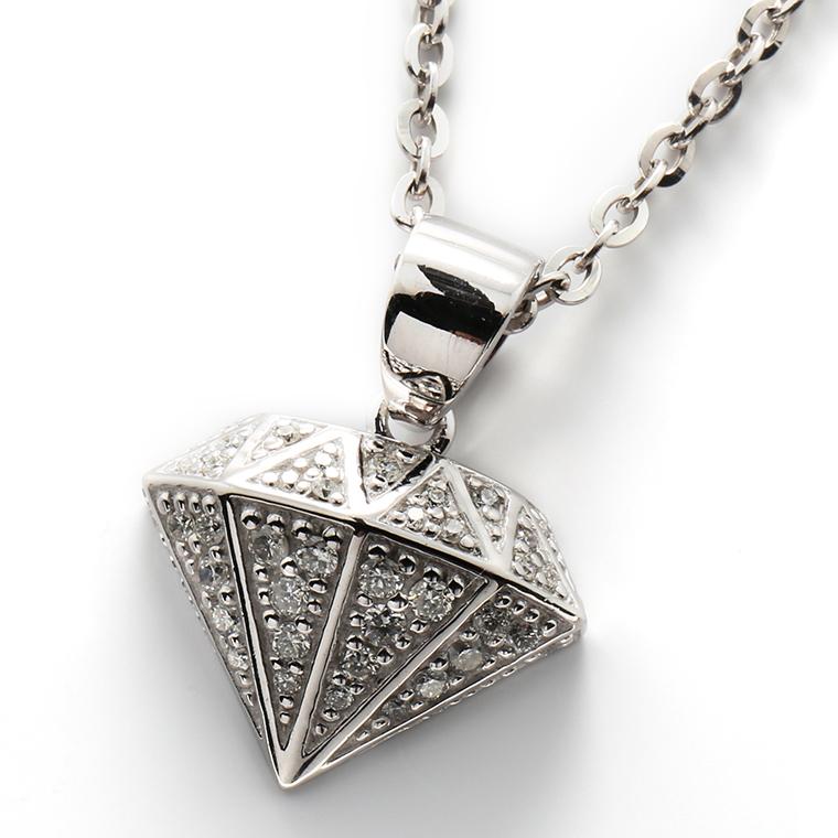 ダイヤモンド 百貨店 0.32ct 低価格 10K 3-14132-02 SJ19 ホワイトゴールドペンダントヘッド