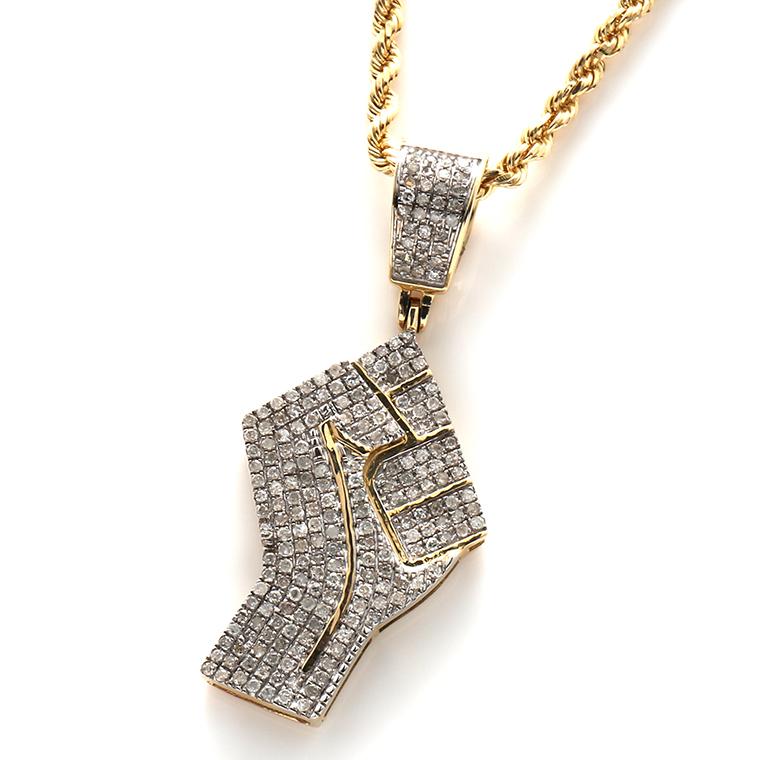 ダイヤモンド(0.52ct) 10K イエローゴールドペンダントヘッドSP02010