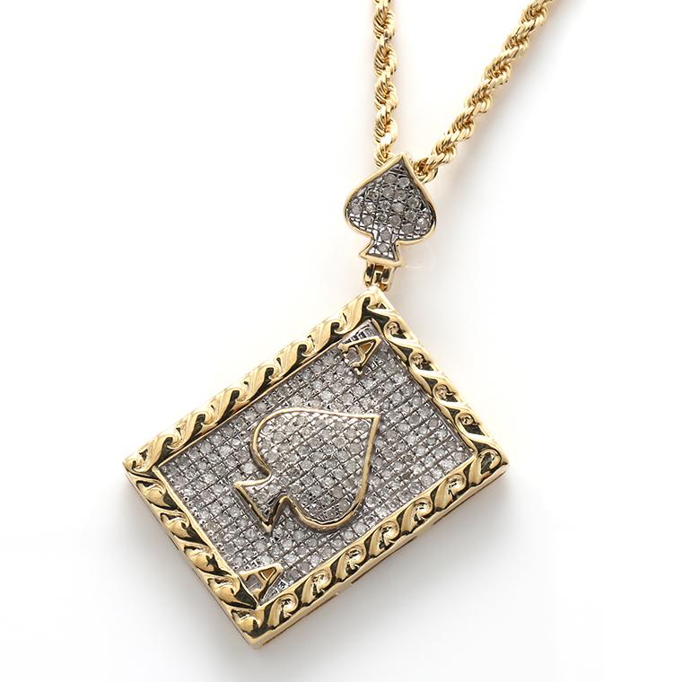 ダイヤモンド(0.58ct) 10K イエローゴールドペンダントヘッドSP02552 SJ19