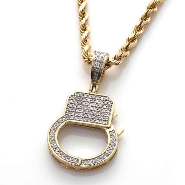 ダイヤモンド(0.24ct) 10K イエローゴールドペンダントヘッドSP02807