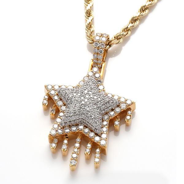 ダイヤモンド(1.80ct) 10K イエローゴールドペンダントヘッドCHR0711Y