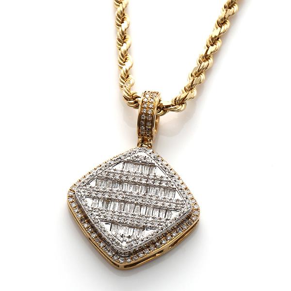 ダイヤモンド(0.85ct) 10K イエローゴールドペンダントヘッドDSCJ2329T2