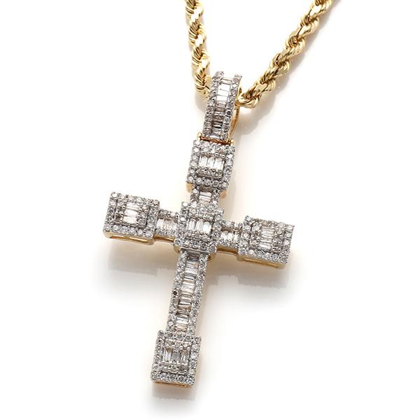 ダイヤモンド(1.00ct) 10K イエローゴールドペンダントヘッド117003