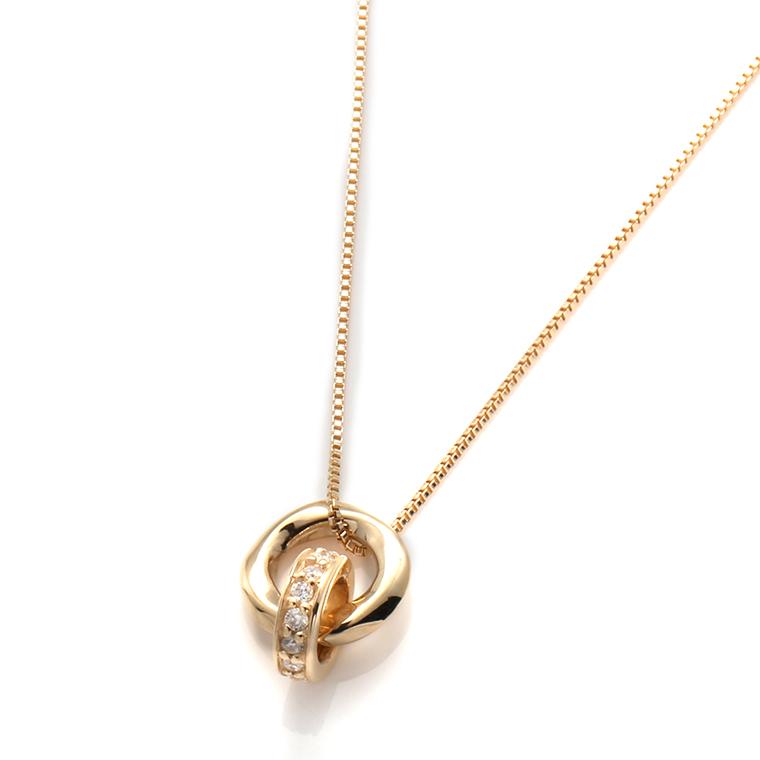 ダイヤモンド 10K イエローゴールドペンダントヘッド&ネックレス(40cm)3-14381-01VN