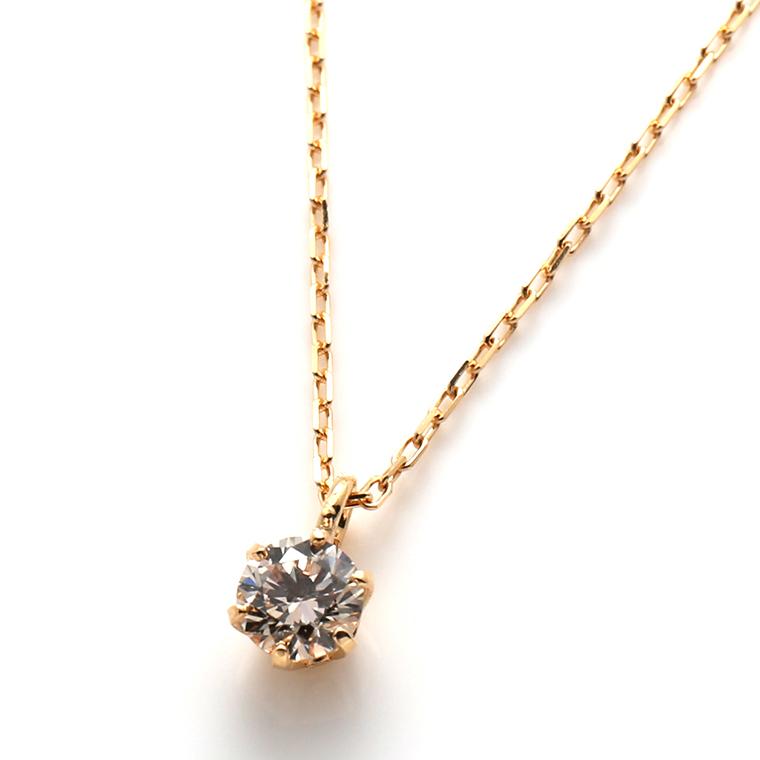 ダイヤモンド 18Kイエローゴールドペンダントヘッド&ネックレス(40cm)903421149