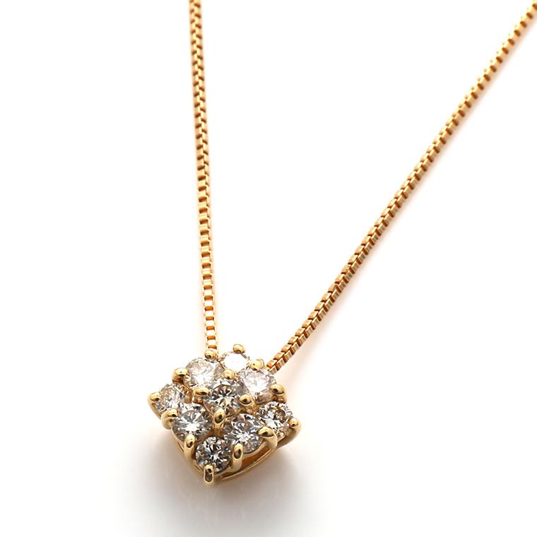 ダイヤモンド 18Kイエローゴールドペンダントヘッド&ネックレス(45cm)TDA0936-31
