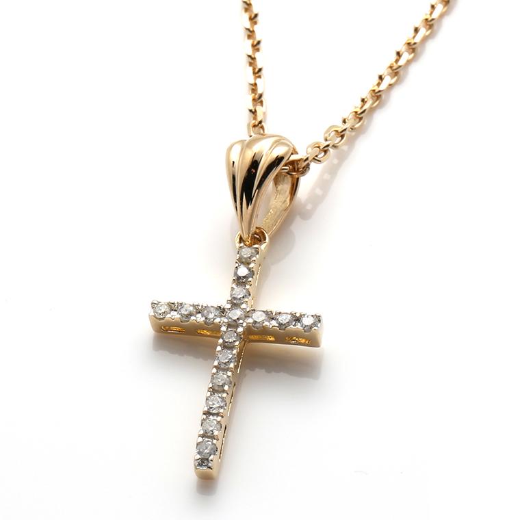 ダイヤモンド 10K イエローゴールドペンダントヘッド&ネックレス 0.104ct(45cm)P5549-10Y/アズキ0.4