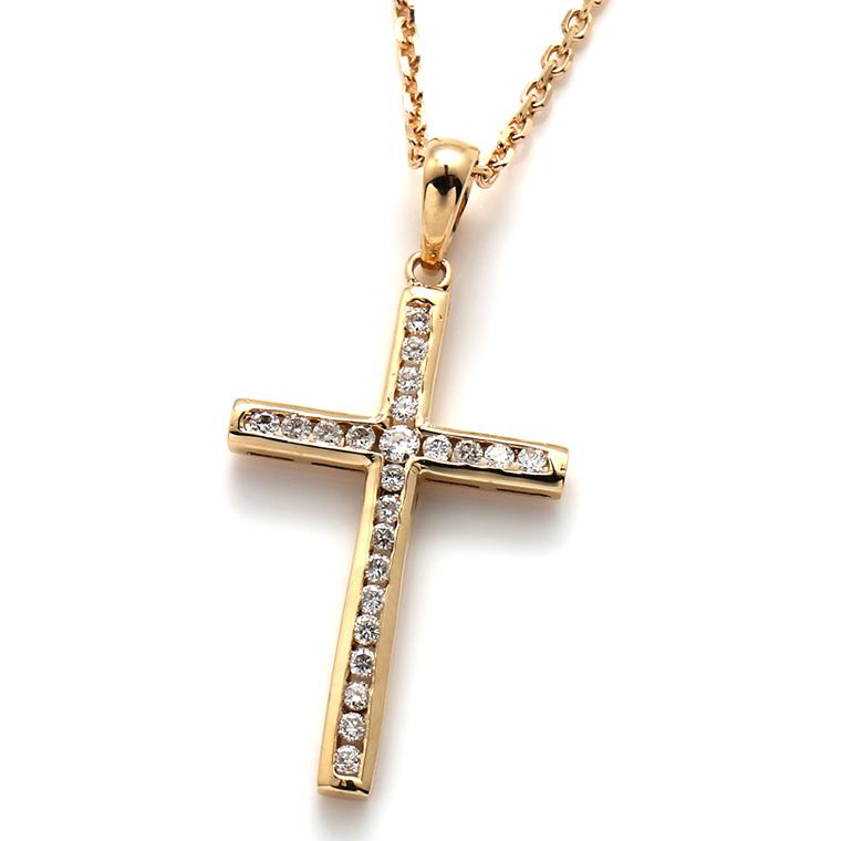 ダイヤモンド 10K イエローゴールドペンダントヘッド&ネックレス 0.186ct(50cm)P3962R-10Y/アズキ0.4
