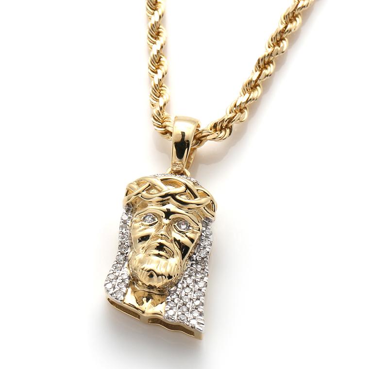 ダイヤモンド10K イエローゴールドペンダントヘッド117829