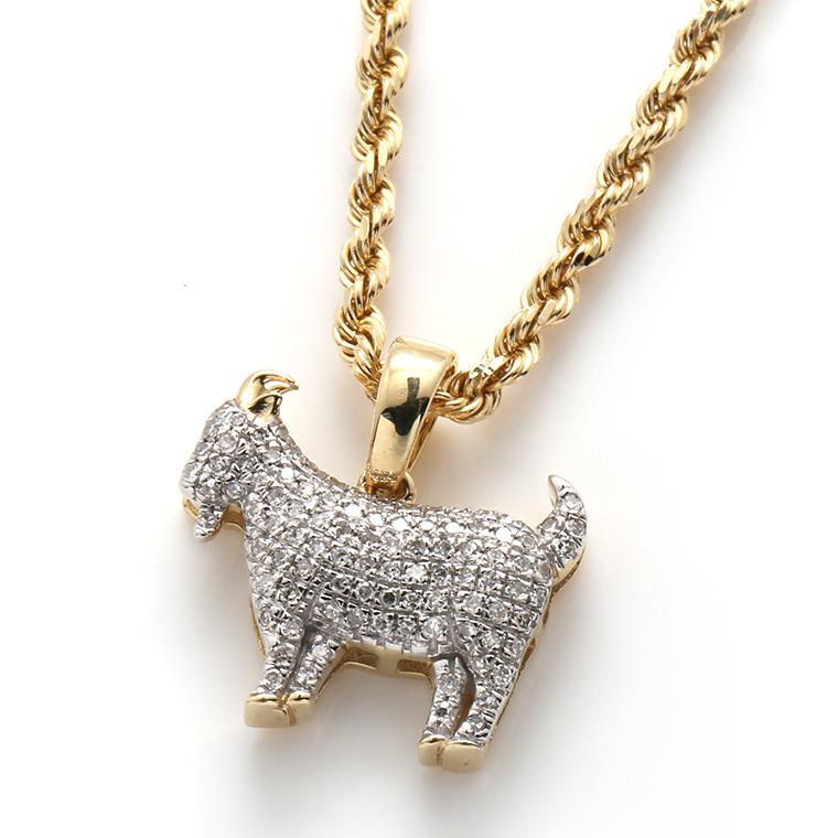 ダイヤモンド(0.20ct)10K イエローゴールドペンダントヘッド117820