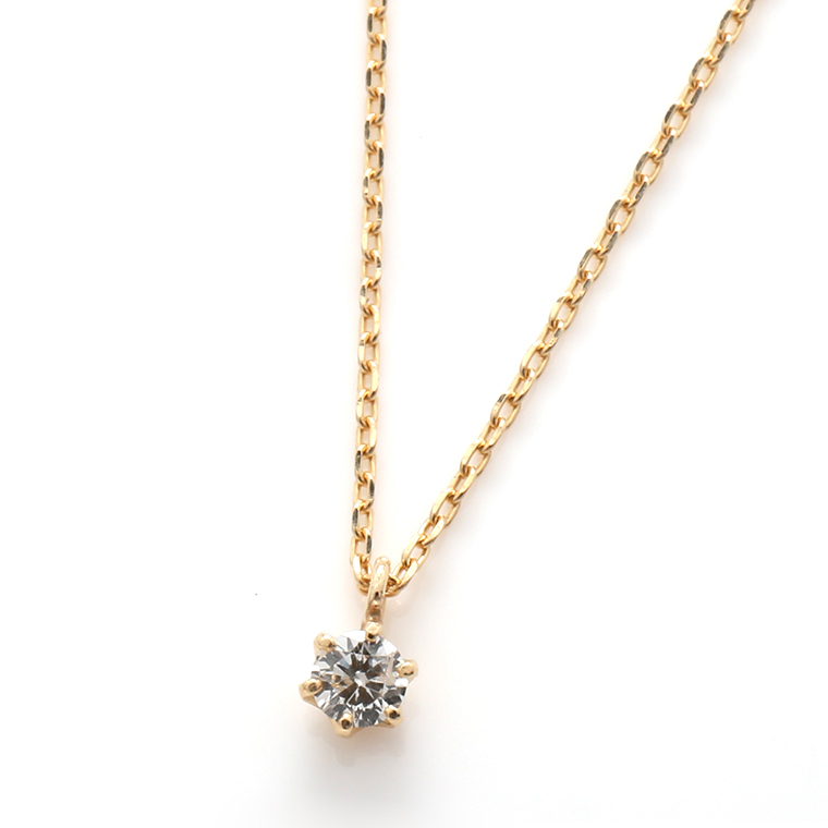 ダイヤモンド 10Kイエローゴールドペンダントヘッド&ネックレス(40cm)TDA8191J-35