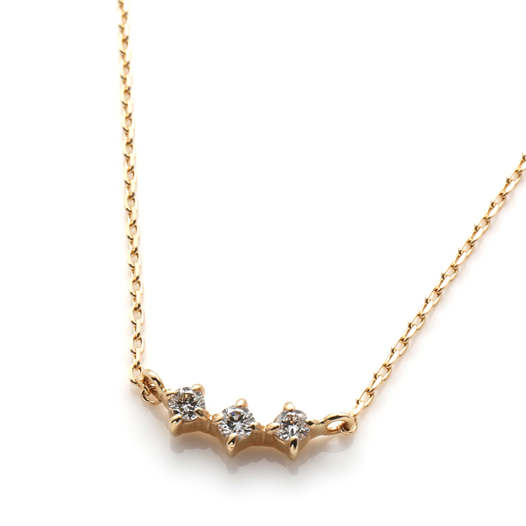ダイヤモンド 10Kイエローゴールドペンダントヘッド&ネックレス(40cm)TDA0045J-31