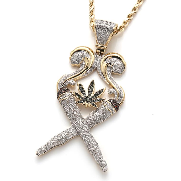 ダイヤモンド10K イエローゴールドペンダントヘッドP7231