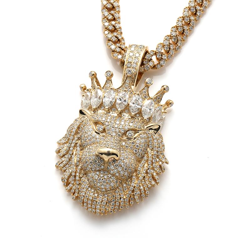 ダイヤモンド10K イエローゴールドペンダントヘッドP5505 SJ20