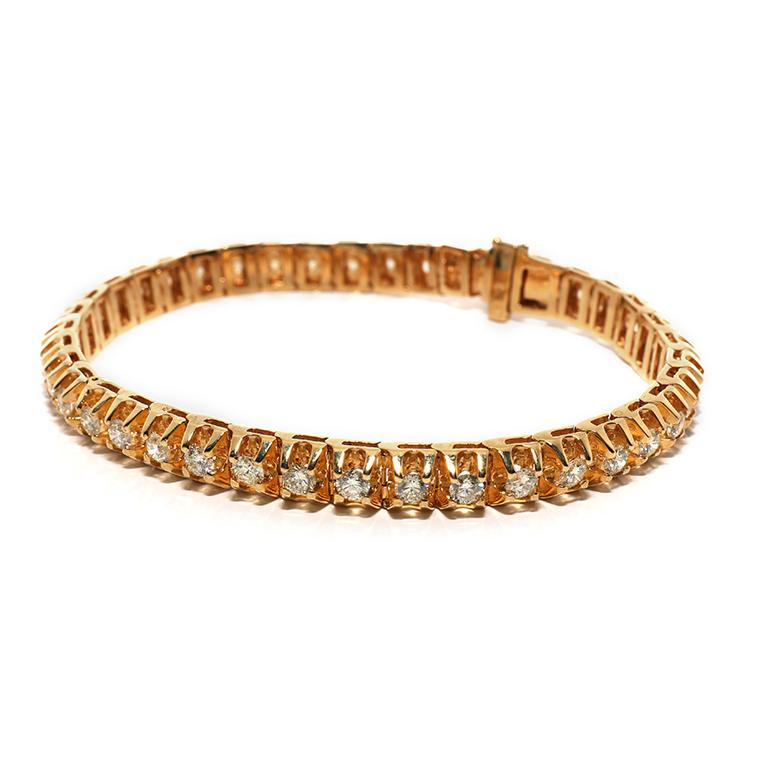 ダイヤモンド 10K イエローゴールドブレスレット(20cm) BR010557