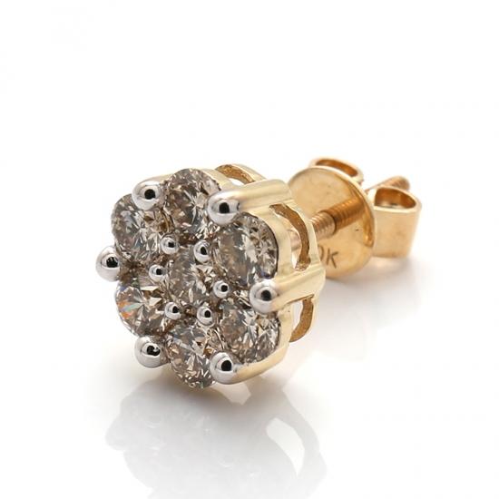 ダイヤモンド イエローゴールドピアス 10K SJ19 (0.50ct) 0125668-YG SJ20