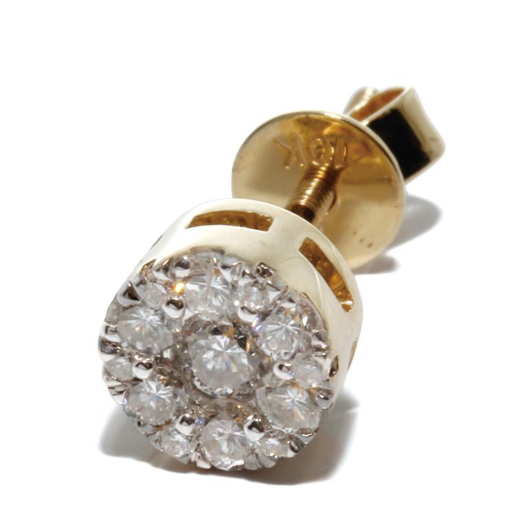 ダイヤモンド 10K イエローゴールドピアス (0.245ct) E1984
