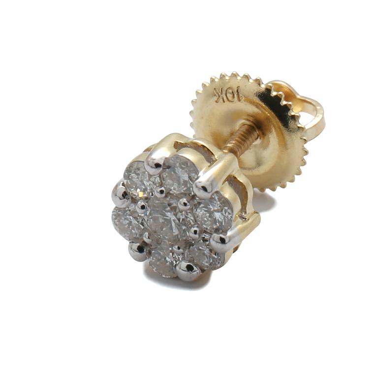 ダイヤモンド 10K イエローゴールドピアス (0.25ct) FL8550Y