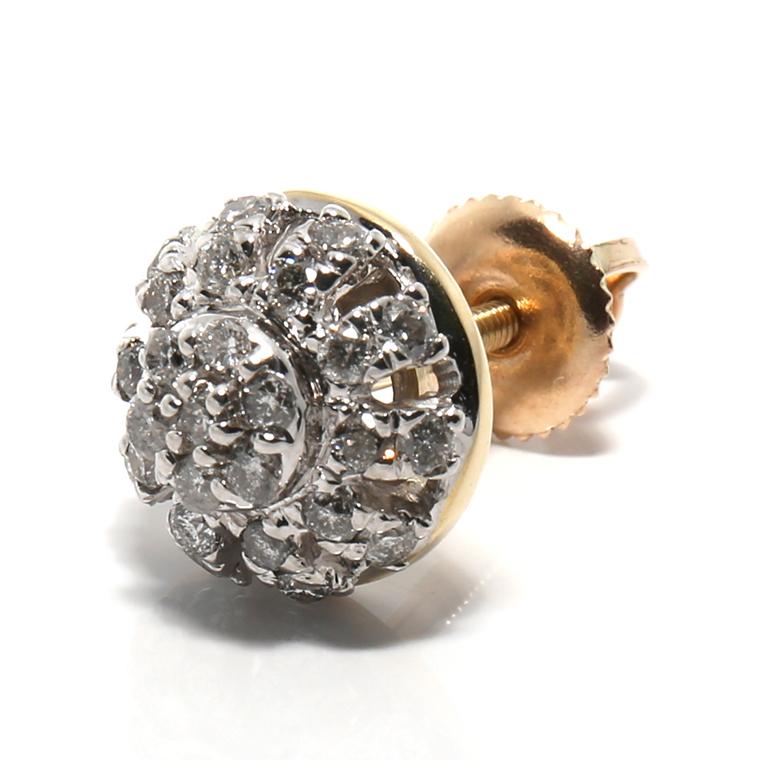 ダイヤモンド 10K イエローゴールドピアス (0.265ct) SE01570
