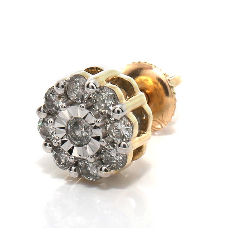 ダイヤモンド 10K イエローゴールドピアス (0.28ct) SE01394 SJ19