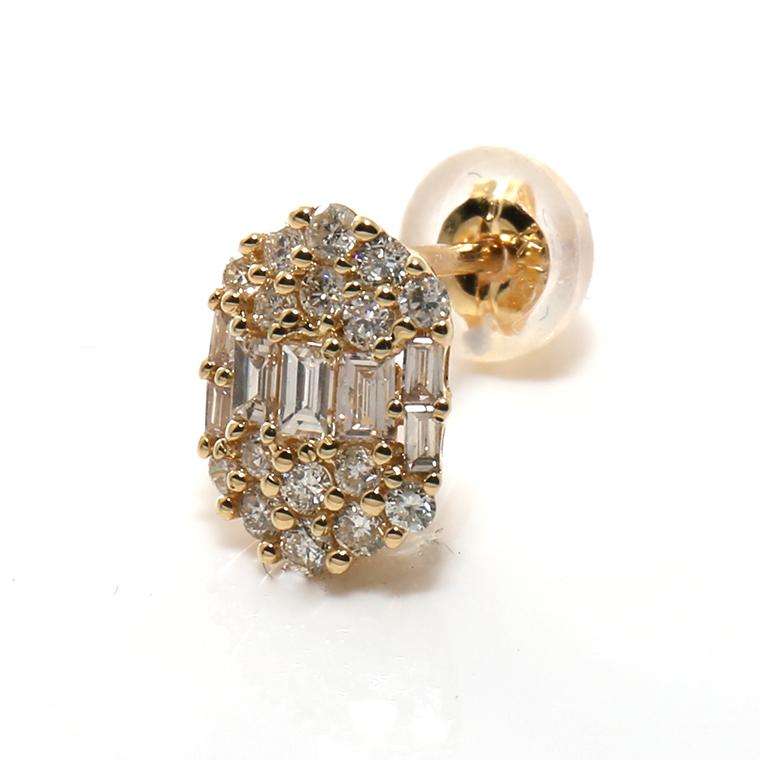 ダイヤモンド 18K イエローゴールドピアス(0.20ct) KE601347
