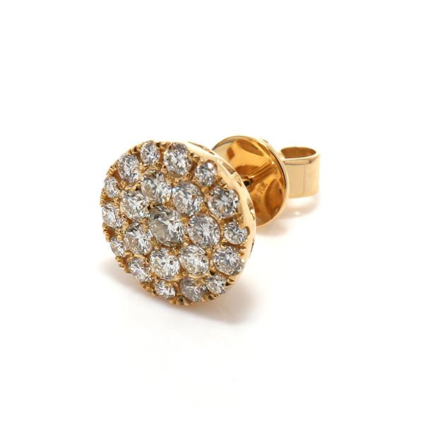 【メール便不可】 ダイヤモンド10KイエローゴールドピアスE2060, インナイマチ dd15cf5e