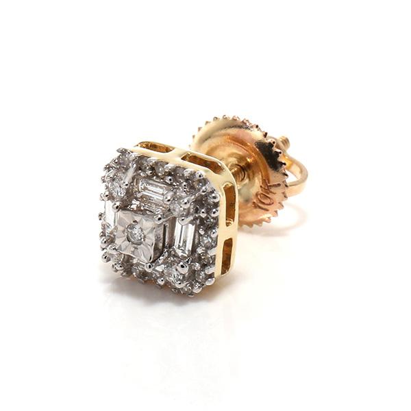 ダイヤモンド10Kイエローゴールドピアス117122