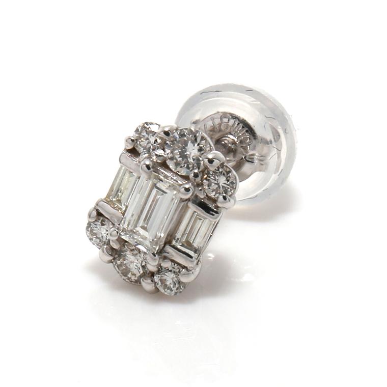 ダイヤモンド18KホワイトゴールドピアスPA-0637
