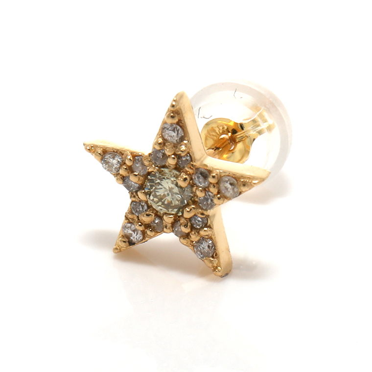 ダイヤモンド18KイエローゴールドピアスHTOP-0011 SJ20