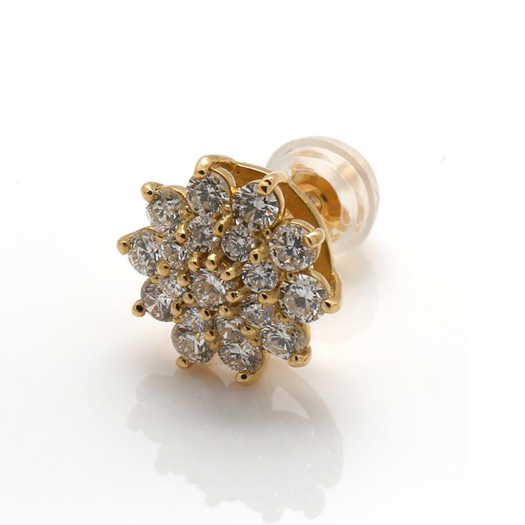 ダイヤモンド18KイエローゴールドピアスDA0037-01