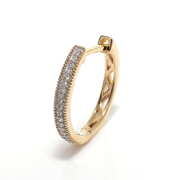ダイヤモンド10Kイエローゴールドピアス0927525-YG