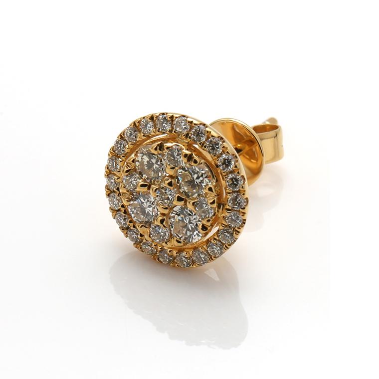 ダイヤモンド10KイエローゴールドピアスE1874