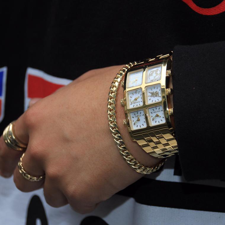 Ice Link 4 Time Zone Generation Small Casegzs Ywy Diamond Watch