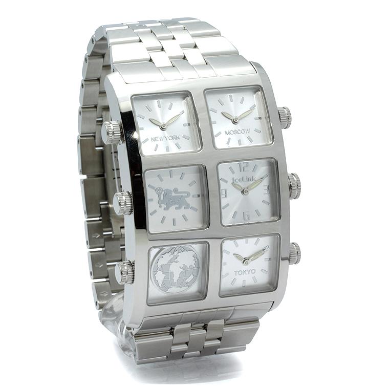 Ice Link 4 Time Zone Generation Big Casegzb Sms Zane Diamond Watch